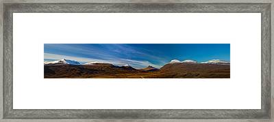 Mountains Of Assynt Panorama Framed Print by Derek Beattie