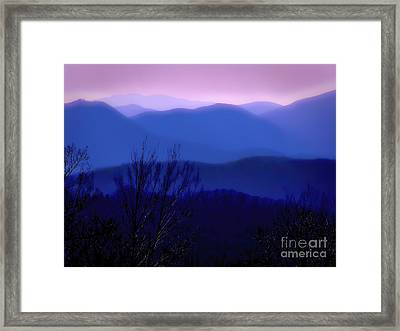 Mountains Of Blue Framed Print