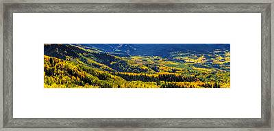 Mountains Of Color Framed Print