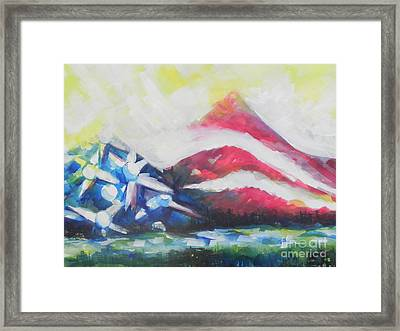 Mountains Of Freedom Two Framed Print