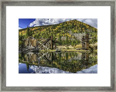 Mountains Of Gold Framed Print
