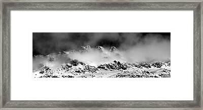 Mountains Of Morteratsch Framed Print by Marc Huebner