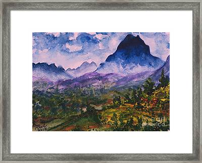 Mountains Of Pyrenees  Framed Print