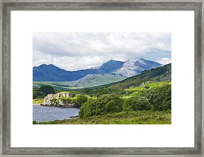 Mountains Of Snowdonia Framed Print by Jane McIlroy