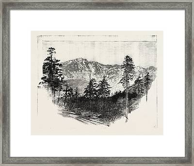 Mountains Of The Tibet Frontier 17000 Feet High Framed Print by English School