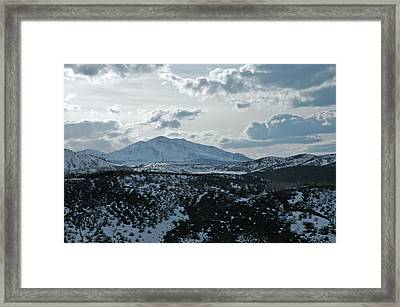 Mountains Of Wild Cat Ranch Framed Print