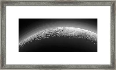 Mountains On Pluto Framed Print