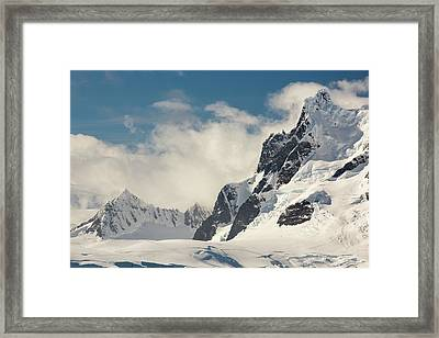 Mountains On The Antarctic Peninsular Framed Print