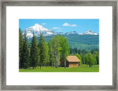 Mountains On West Side Of Glacier Np-mt Framed Print by Ruth Hager