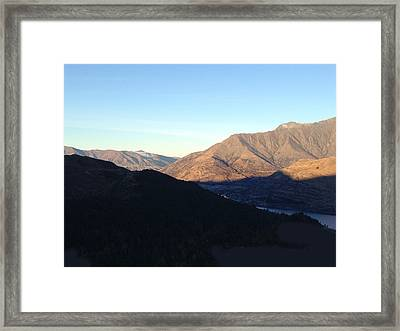 Mountains Framed Print by Ron Torborg