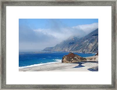 Mountains Sea Sky Framed Print by Boon Mee