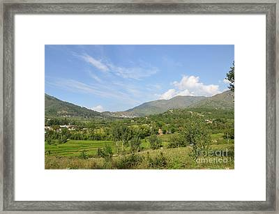 Framed Print featuring the photograph Mountains Sky And Clouds Swat Valley Pakistan by Imran Ahmed