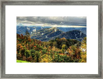 Mountains Smoking Framed Print by Heavens View Photography