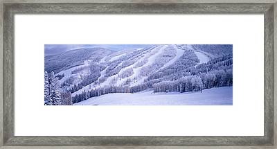 Mountains, Snow, Steamboat Springs Framed Print