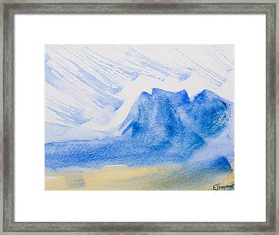 Mountains Tasmania Framed Print