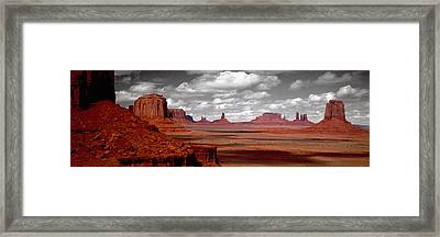 Mountains, West Coast, Monument Valley Framed Print by Panoramic Images