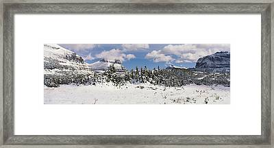 Mountains With Trees In Winter, Logan Framed Print