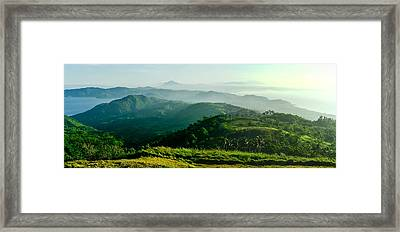 Mountaintop Panorama Framed Print