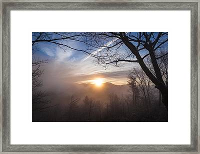Mountaintop Sunrise Framed Print by Maria Robinson