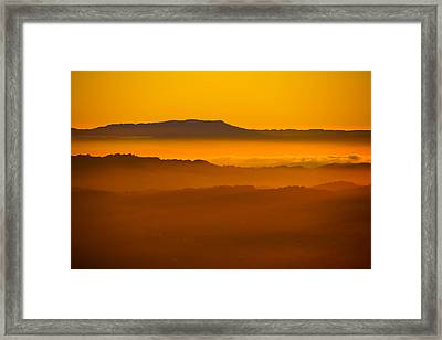Mountaintop Sunset Framed Print by Michael Courtney