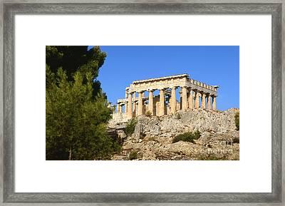 Mountaintop Temple Framed Print