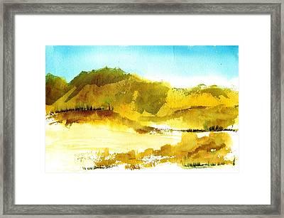 Mountan Desert Framed Print by Anne Duke