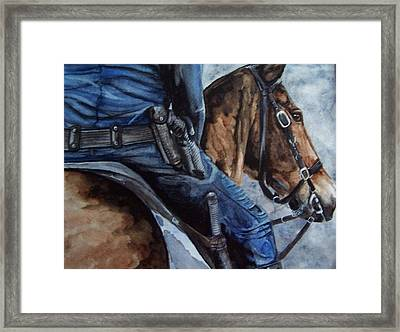 Mounted Patrol Framed Print