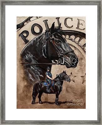 Mounted Patrol Framed Print by Pat DeLong