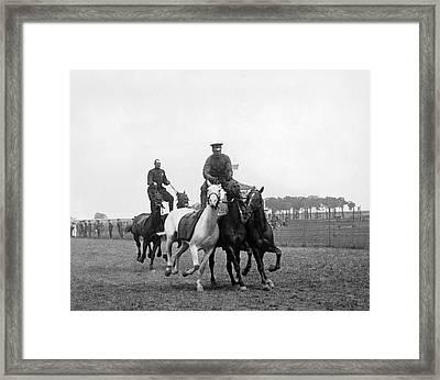 Mounted Police Stunts Framed Print