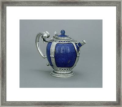 Mounted Teapot Unknown Porcelain About 1662 - 1690 Mounts Framed Print