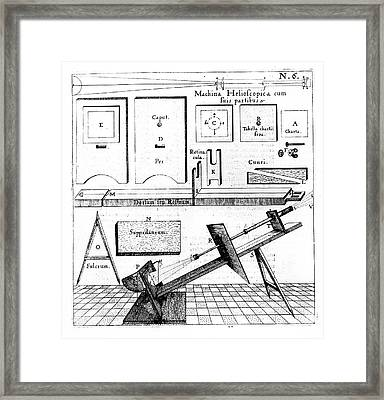 Mounting For A Refracting Telescope Framed Print by Universal History Archive/uig