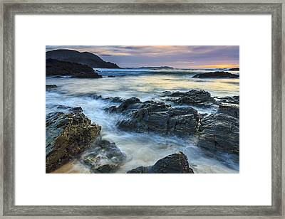 Framed Print featuring the photograph Mourillar Beach Galicia Spain by Pablo Avanzini