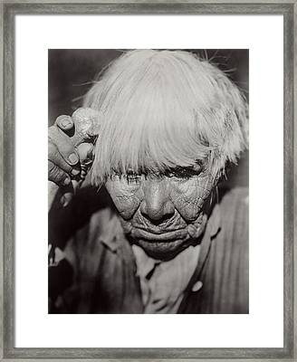 Mourning Circa 1924 Framed Print by Aged Pixel