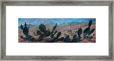 Framed Print featuring the painting Mourning Dove Desert Sands by Rob Corsetti