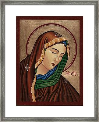 Mourning Virgin Mary 2 Framed Print by Doru Ionut Pustianu