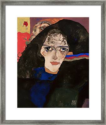 Mourning Woman Framed Print