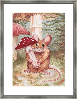 Mouse And Mushroom Framed Print