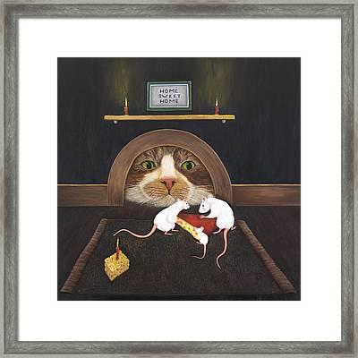 Framed Print featuring the painting Mouse House by Karen Zuk Rosenblatt