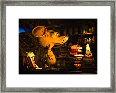 Mouse In The Attic Framed Print by Bob Orsillo
