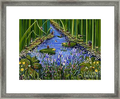 Framed Print featuring the painting Mouse Pad by Jennifer Lake