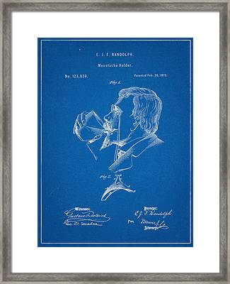 Moustache Guard Patent Framed Print by Decorative Arts