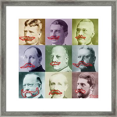 Moustaches Framed Print by Tony Rubino