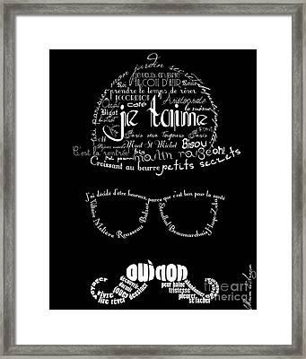 Moustache Man 2 Framed Print