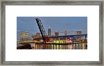Mouth Of The Cuyahoga Framed Print by Frozen in Time Fine Art Photography