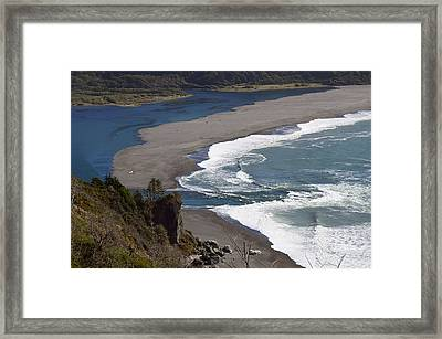 Mouth Of The Klamath Framed Print