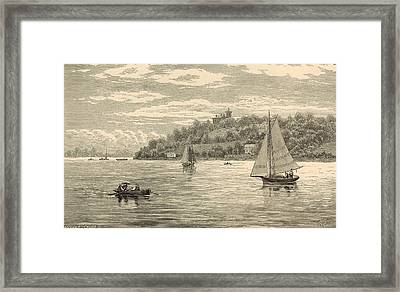 Mouth Of The Shrewsbury River 1872 Engraving Framed Print by Antique Engravings