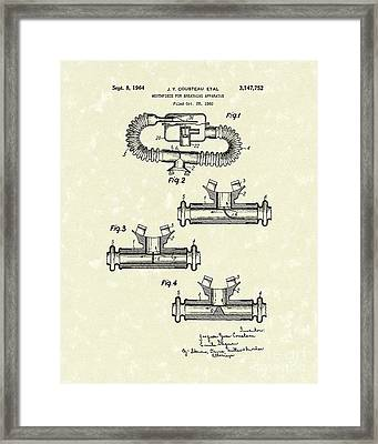 Mouthpiece 1964 Patent Art Framed Print