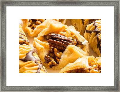 Mouthwatering Baklava Dessert Framed Print by Edward Fielding