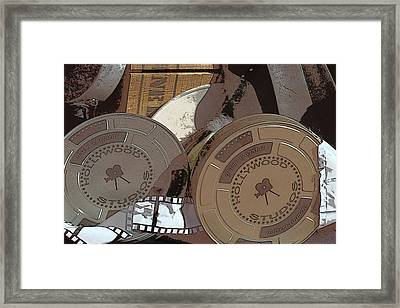 Movie Film Cans Framed Print by Art Block Collections
