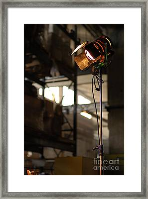 Movie Light Framed Print by Micah May